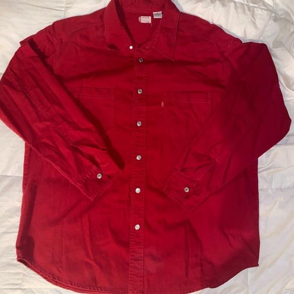 Vintage Levi red button down denim jacket